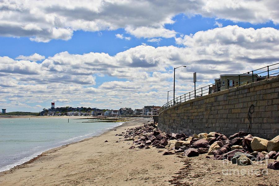 Winthrop Beach Photograph - Cloudy Beach by Extrospection Art