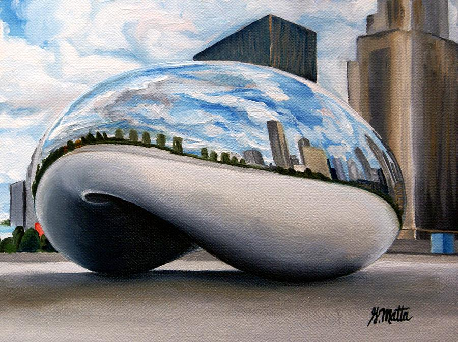 Chicago Painting - Cloudy Bean by Gretchen Matta