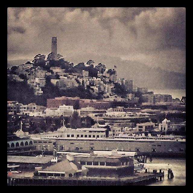 Cloudy Coit Tower from Bridge by Nimmi Solomon