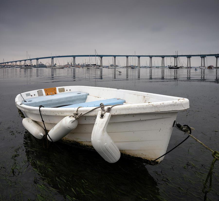 San Diego Photograph - Cloudy Coronado Island Boat by William Dunigan