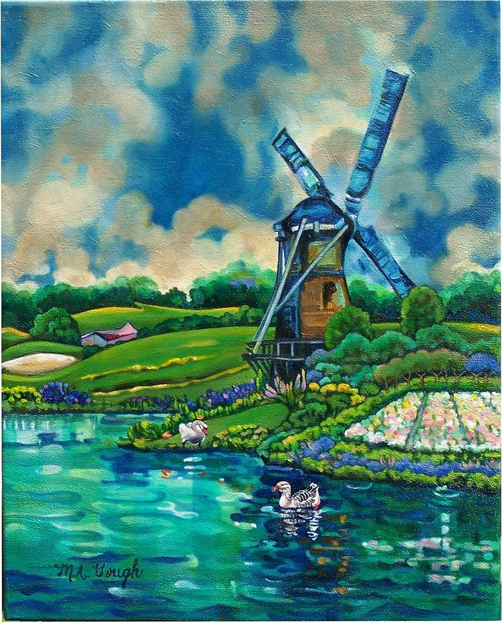 Holland Painting - Cloudy Day In Holland by Mary Ann Gough