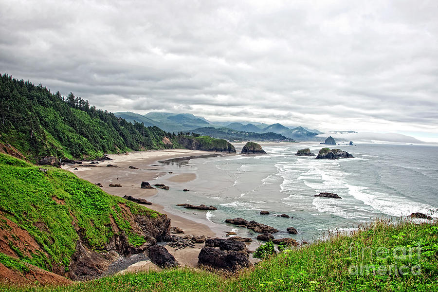 Cloudy Oregon Coast from Ecola Park by Lincoln Rogers