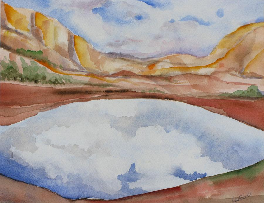 Landscape Painting - Cloudy Reflections by Kathy Mitchell