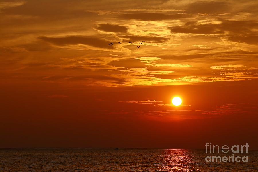 Great Lakes Area Photograph - Cloudy Sunset On Lake Ontario - 27 August 2018 by Tony Lee