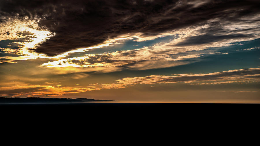 Cloudy Sunset Photograph