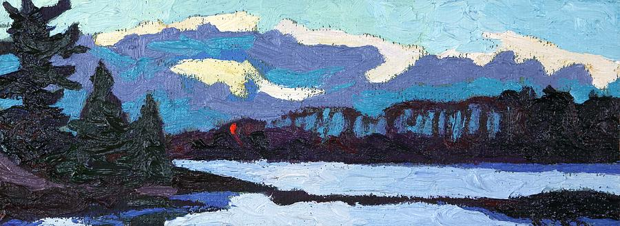 Clouds Painting - Cloudy Sunset by Phil Chadwick