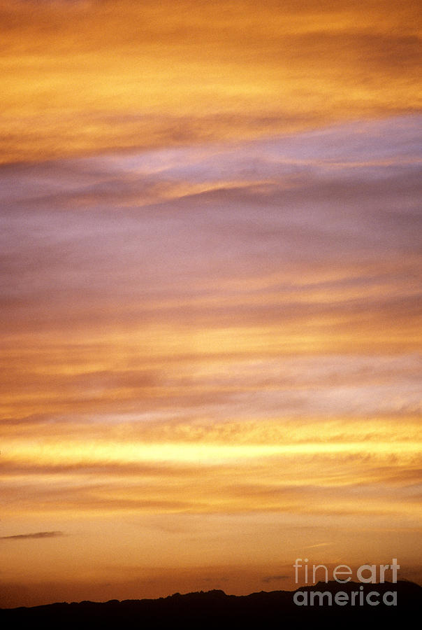 Afternoon Photograph - Cloudy Sunset Sky by Carl Shaneff - Printscapes