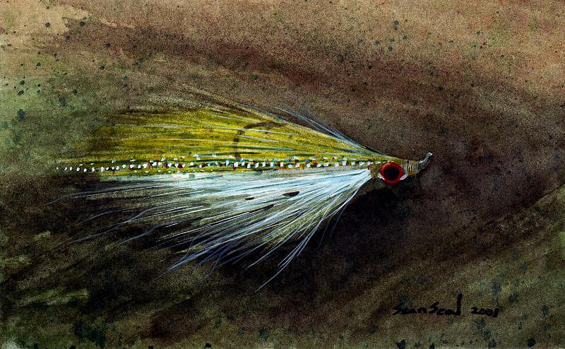 Fishing Fly Painting - Clouser Minnow by Sean Seal