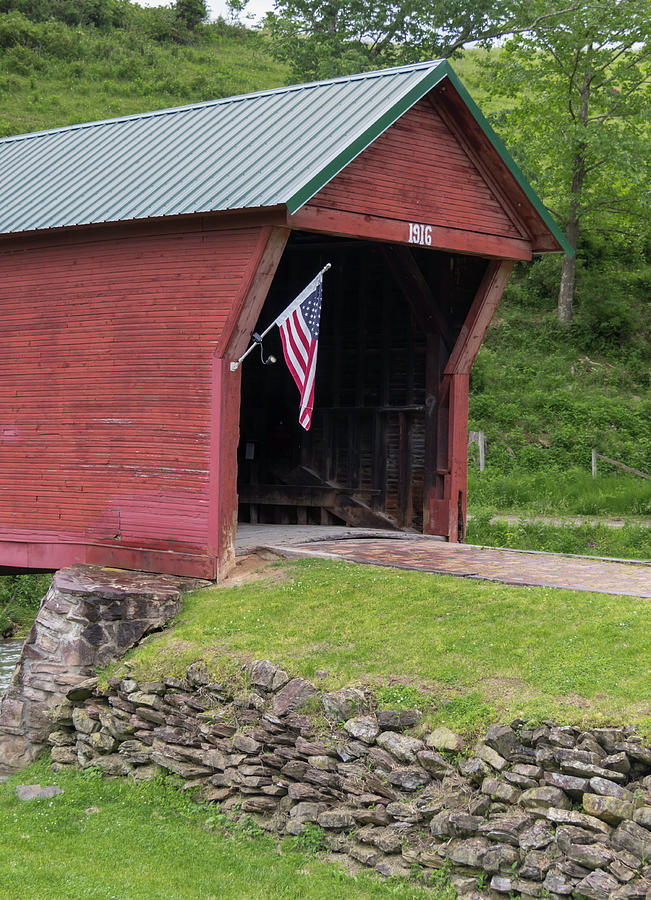 Giles County Photograph - Clover Hollow Covered Bridge 01 by Teresa Mucha