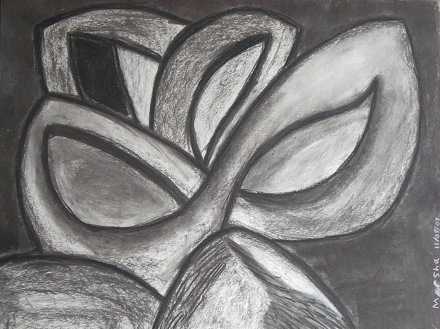 Flower Drawing - Clover Leaf by Marsha Ferguson