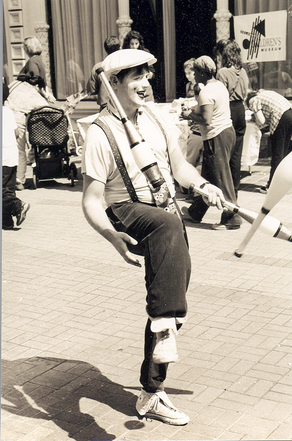 Black And White Photograph - Clown At Work by Emery C Graham Jr