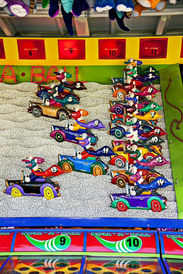 Carnivals Photograph - Clown Car Racing Game by Garry Gay
