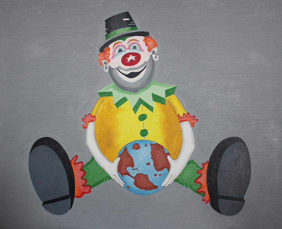 Clown Painting - Clown Eleven by Frank Parrish