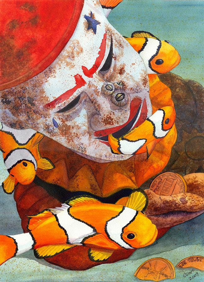 Clown Painting - Clown Fish by Catherine G McElroy