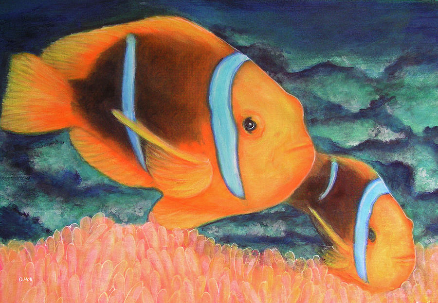 Clown Fish Painting - Clown Fish #310 by Donald k Hall