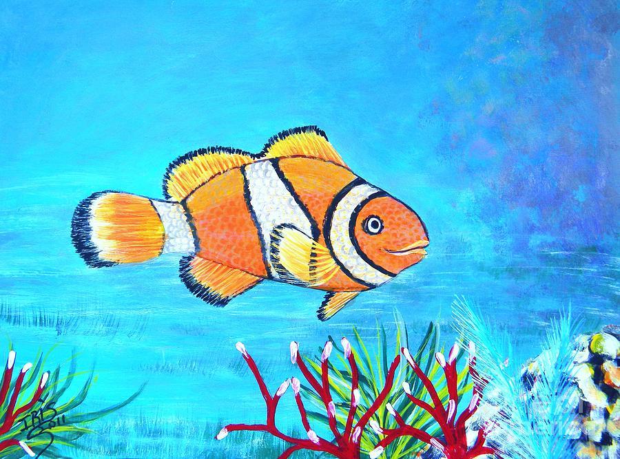 Fish Painting - Clown Fish by Iris  Mora