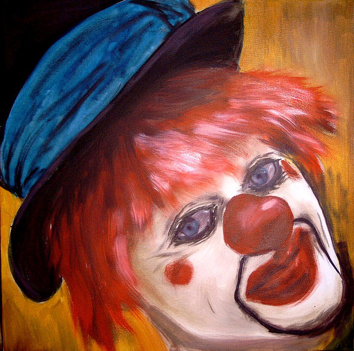 clown II Painting by Maria Antoniac