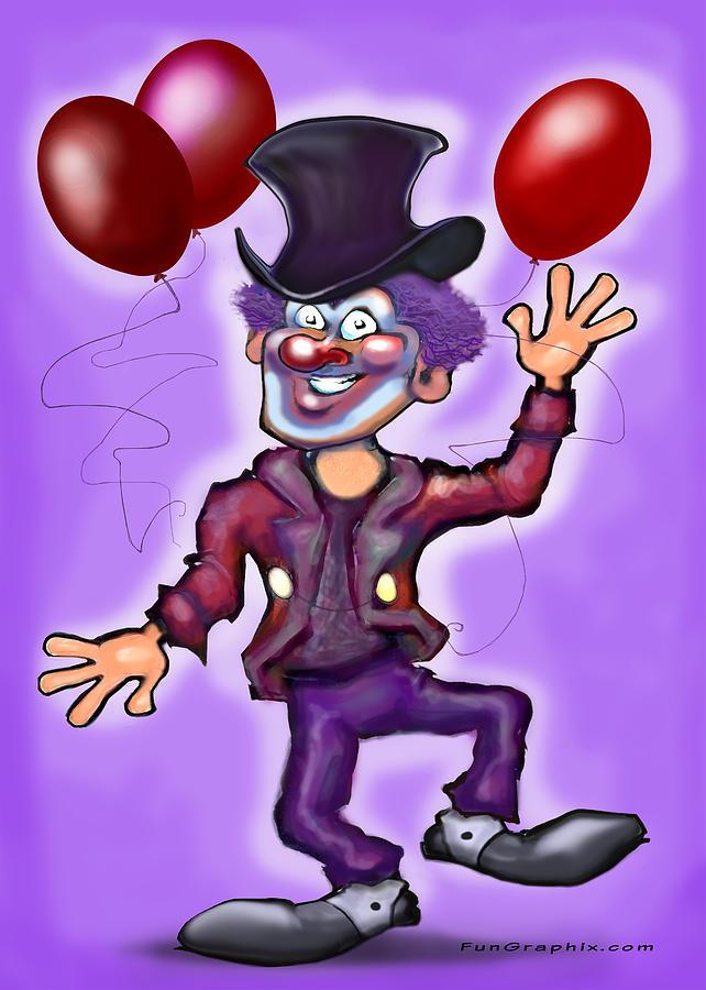 Clown Digital Art - Clown by Kevin Middleton
