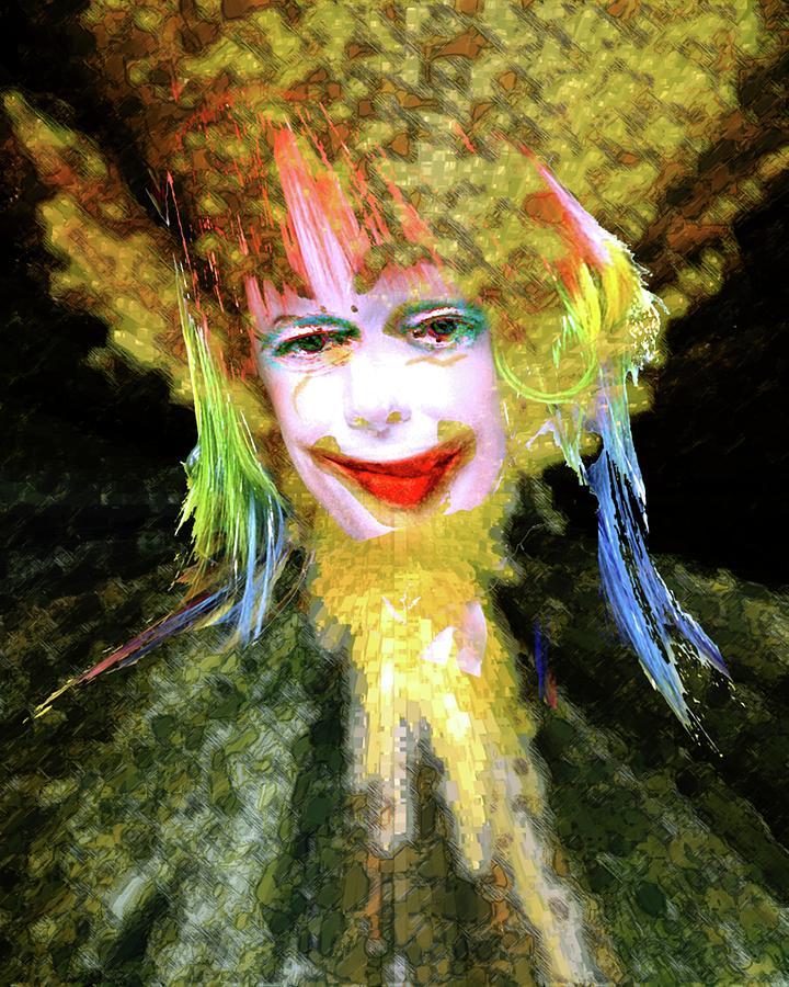 Portrait Digital Art - Clown by Robert Sloan
