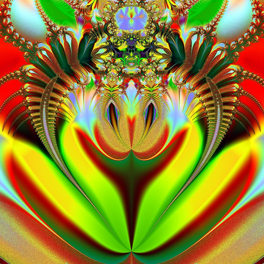 Fractal Digital Art - Clown by Sfinga Sfinga