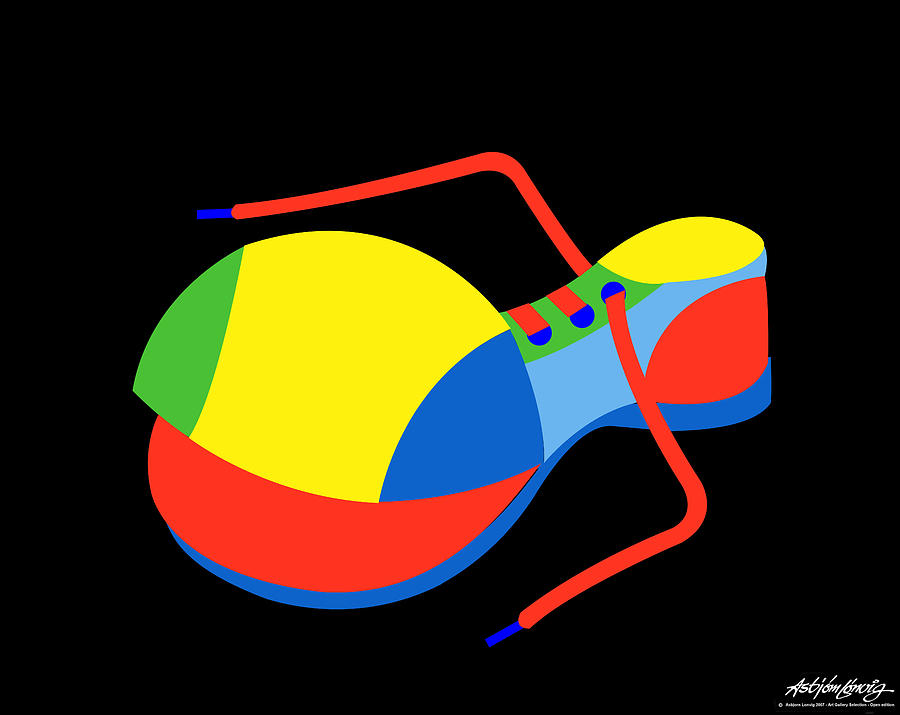 Clown Digital Art - Clown Shoe by Asbjorn Lonvig