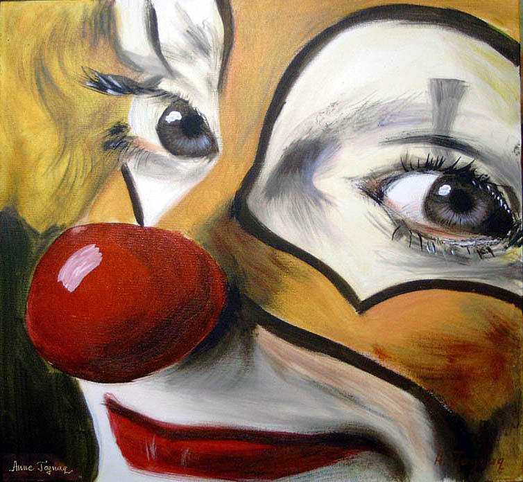 Clown1 Painting by Maria Antoniac