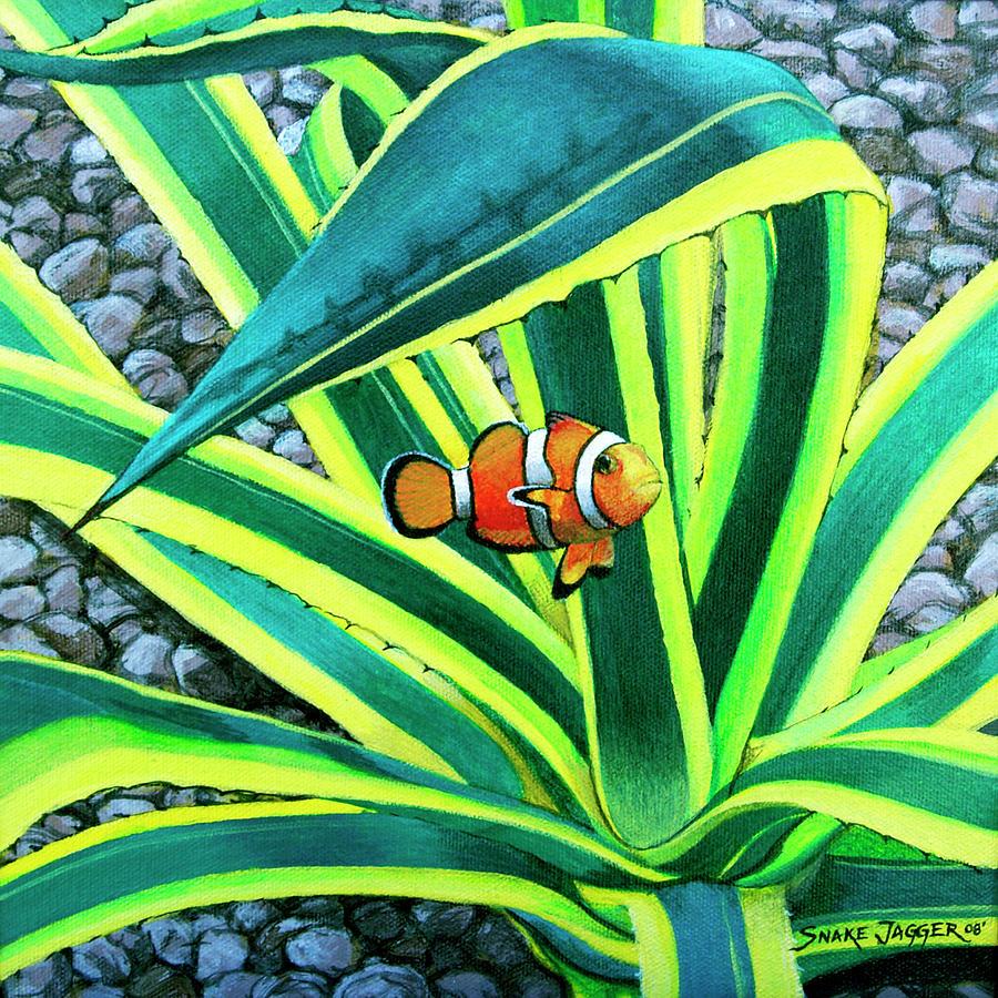 Fish Painting - Clownfish by Snake Jagger