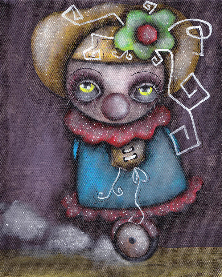 Abril Andrade Griffith Painting - Clowning Around by  Abril Andrade Griffith