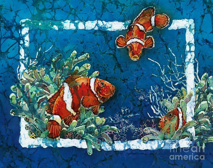 Ocean Painting - Clowning Around - Clownfish by Sue Duda