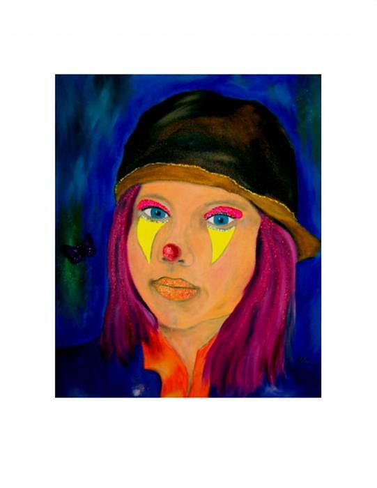 Portrait Painting - Clowning Around by Nick Stevens