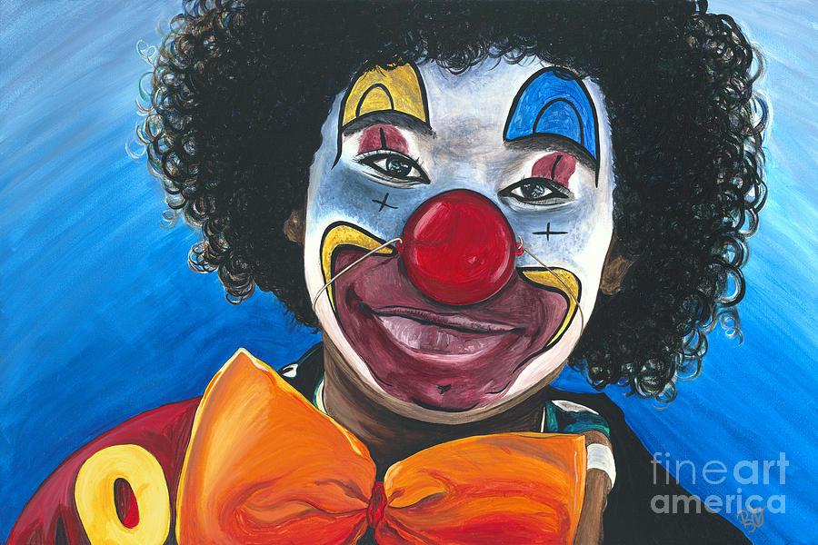 Clown Painting - Clowning Around by Patty Vicknair