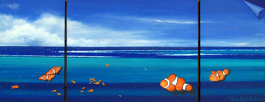 Clown Fish Painting - Clowning Around by Sharon Ebert