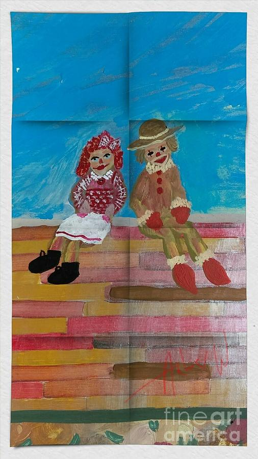 The Clowns By My Door Painting