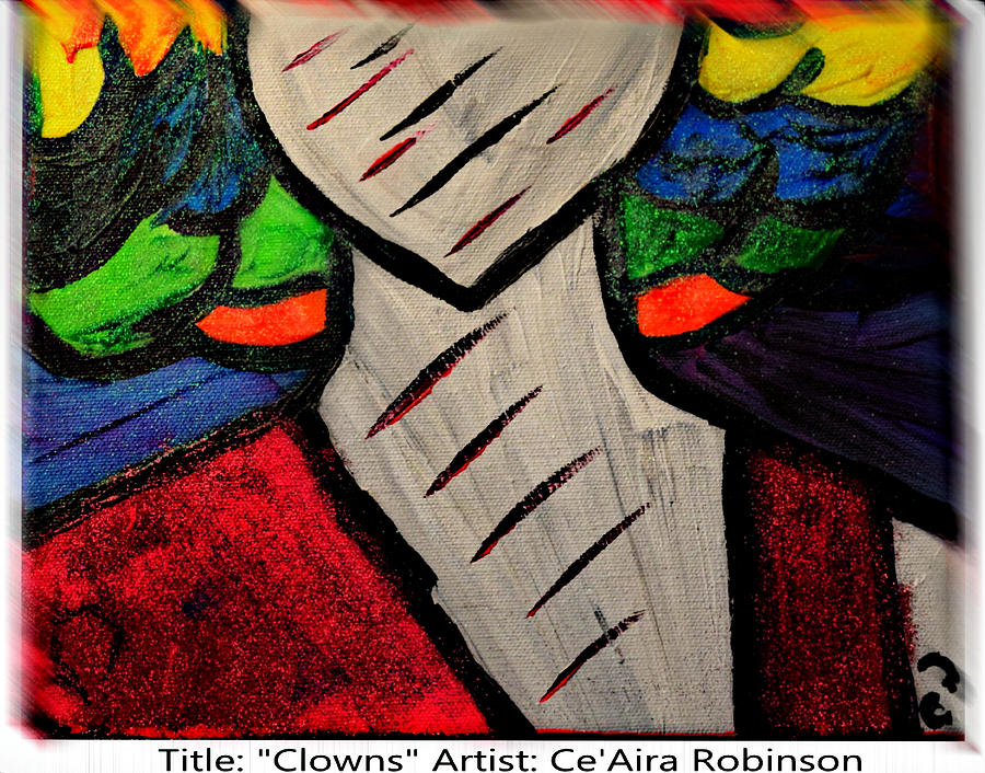 Colorful Painting - Clowns by Ceaira Robinson