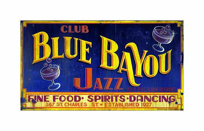 New Orleans Photograph - Club Blue Bayou by Kate Watkins