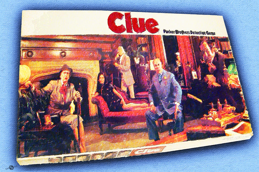 Clue Board Game Painting Painting By Tony Rubino