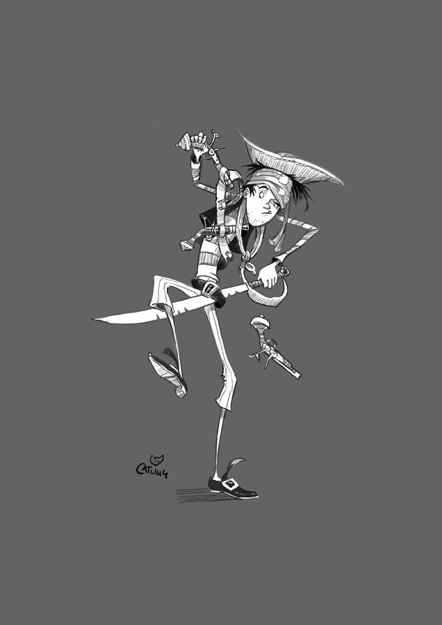 Clumsy Pirate by Andy Catling