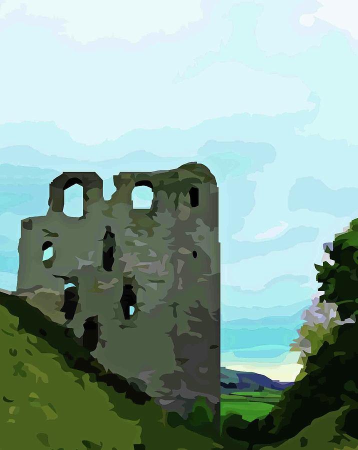 Clun Castle by Mary Castellan