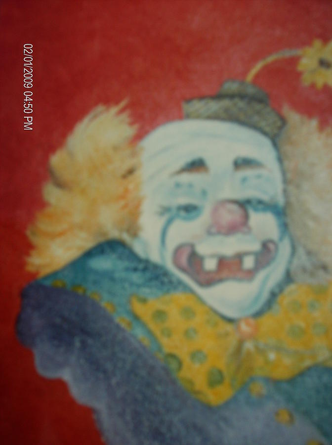 Clown Painting - Clyde by Terry Lash