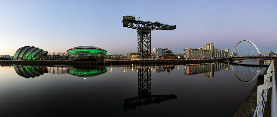 Panoramic Image Photograph - Clyde Waterfront After Sunset by Grant Glendinning
