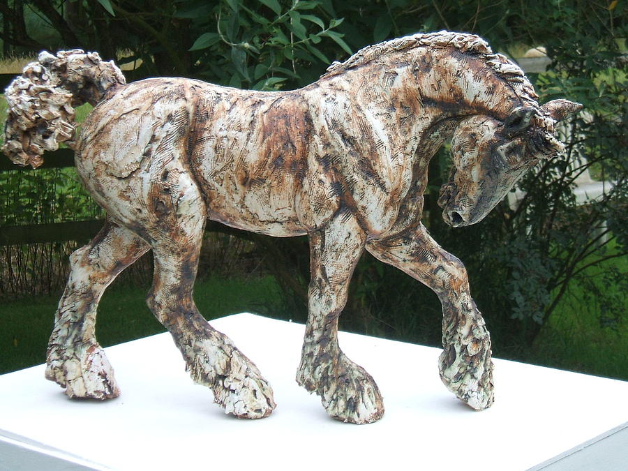 Horse Sculpture - Clydesdale Horse by April Young
