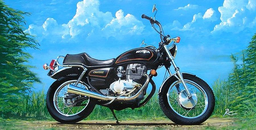 Honda Painting - Honda CM400E by Peter Ring Sr