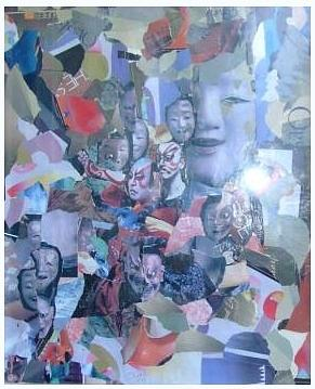 Abstract; Mask Mixed Media - Cmon Show Me Your Real Face  by Viet Tran