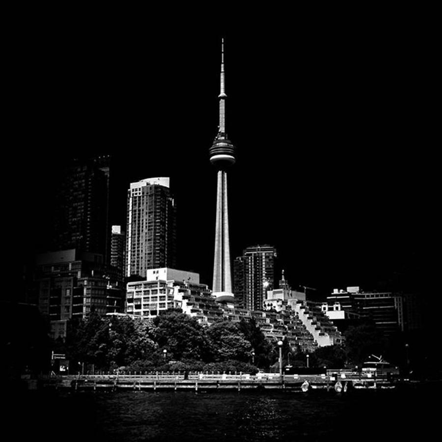 Blogto Photograph - Cn Tower From Ireland Park  #toronto by Brian Carson