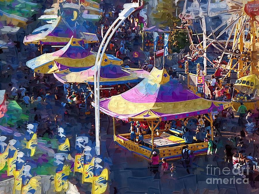 Carnival Painting - Cne Grounds by Deborah Selib-Haig DMacq