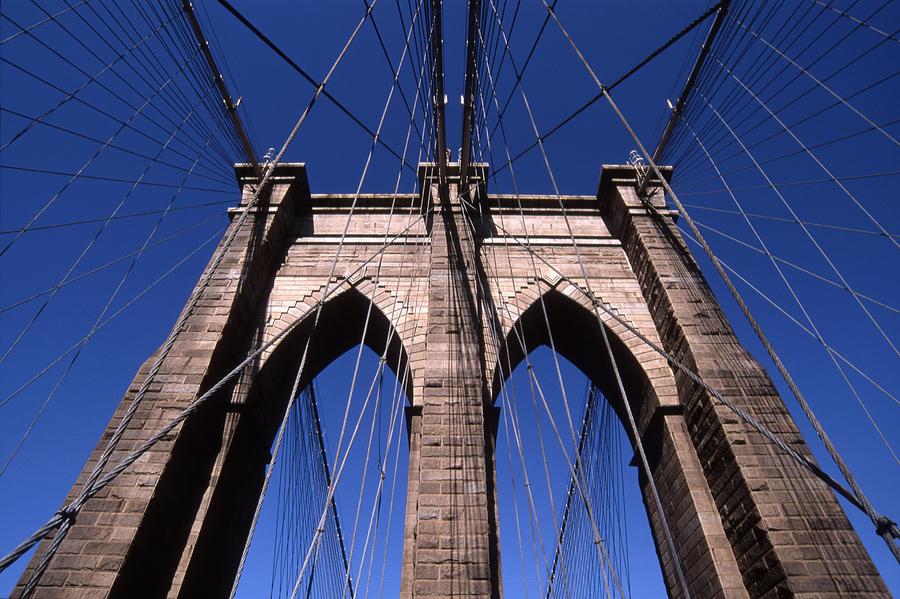 Landscape Brooklyn Bridge New York City Photograph - Cnrg0409 by Henry Butz