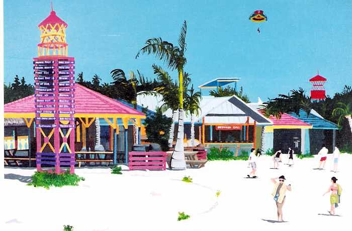 Co Co Cay Island Painting by David Ellis