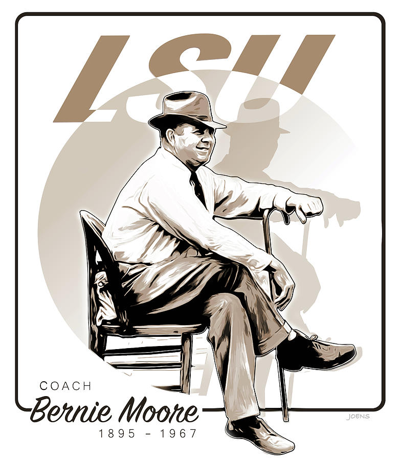 Coach Bernie Moore Digital Art