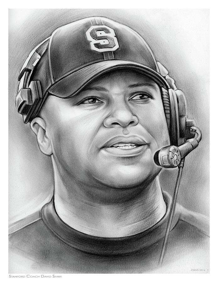 Coach David Shaw Drawing