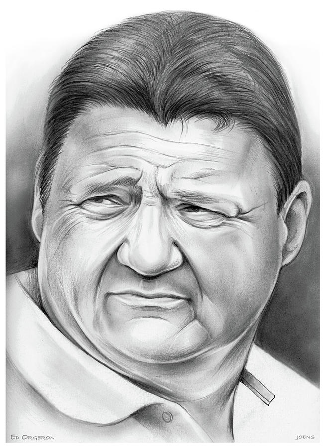 Coach Orgeron Drawing